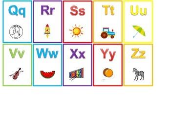 Miniature Alphabet Flash Cards.  Preschool and Kindergarten ABC cards.