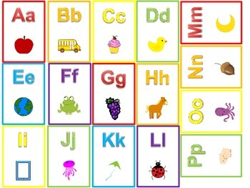 Miniature Alphabet Flash Cards.  Preschool and Kindergarte
