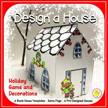 Winter Holiday Decorations - Classroom Crafts - Miniature House