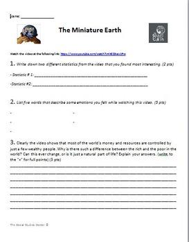 Miniature Earth (Village of 100) Video Response Sheet