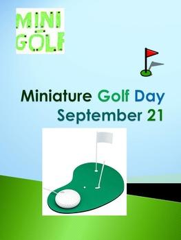 Miniature Golf Day - September 21