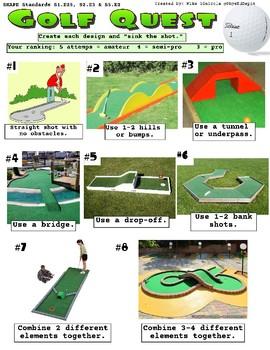 Miniature Golf (Putt putt) Course Building Progressions for PE