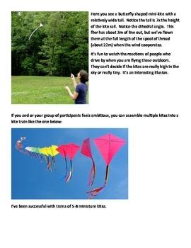 Miniature Kites that fly indoors or outdoors - the perfect filler