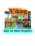 Miniature Viking Ship and House Diorama Templates