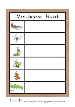 Minibeast Hunt Tally