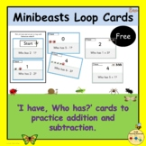 I Have Who Has Addition Subtraction Minibeasts Insects Bug
