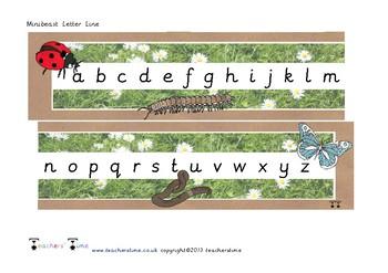 Minibeast Letter Line