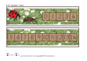 Minibeast Number Track to 20
