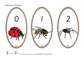 Minibeast Numbers 0-20