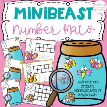 Minibeast Playdough Number Mats