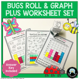 Roll & Graph Activity & Count and Graph Worksheets Bugs Theme