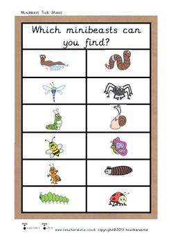 Minibeast Tick Sheet
