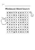 Minibeast Word Search