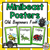 Minibeasts, Insects, Bugs Posters QLD Beginners Font