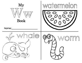 Minibook: The Letter Ww