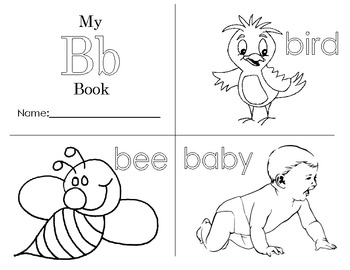 Minibook: The letter Bb