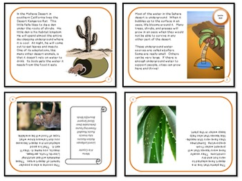 Minibooks Desert Habitats Differentiated for 810 and 710 Lexile Bands