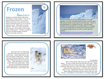 Minibooks Frozen Arctic and Tundra Habitats Leveled for 910 and 700 Lexile Bands