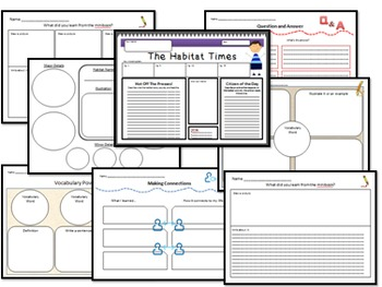 Minibooks Ocean Habitats Differentiated for 890 and 730 Lexile Bands