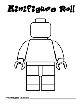 Minifigure Roll - A Math & Art Activity to Practice Adding 3 Numbers