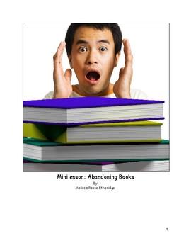 Minilesson: Abandoning Books