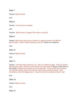 Minilesson: Comparing Fractions: Transcript