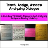 Minilessons to Teach Analyzing Dialogue in Reading Workshop