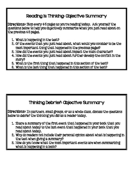 Minilessons to Teach Objective Summary in Reading Workshop