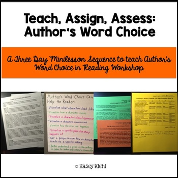 Minilessons to Teach Analyzing Author's Word Choice in Reading Workshop