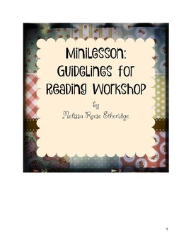 Minilesson: Guidelines for Reading Workshop