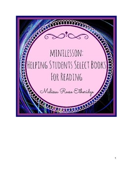 Minilesson: Helping Students Select a Book for Reading