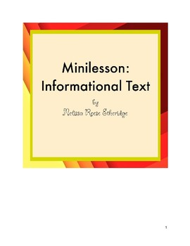 Minilesson: Informational Text