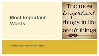 Minilesson: Most Important Words
