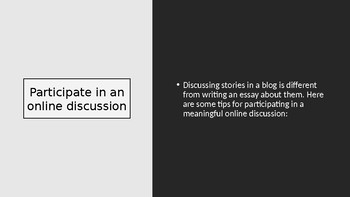 Minilesson: Participate in an Online Discussion