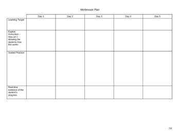 Minilesson Plan Form