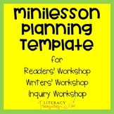 Minilesson Planning Template for Readers' Workshop, Writers'Workshop and Inquiry