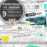 Principles of Design Worksheet Pack: Elementary Art, Middle & High School Art