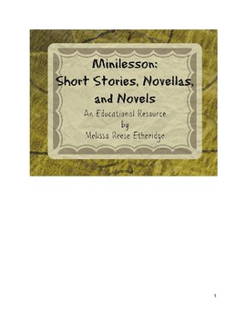 Minilesson: Short Stories, Novellas, and Novels
