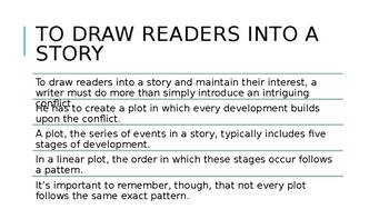 Minilesson: Stages of Plot