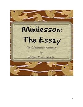 Minilesson: The Essay