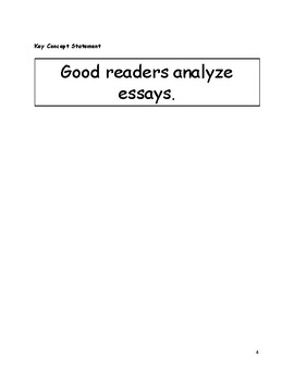 Minilesson: The Essay