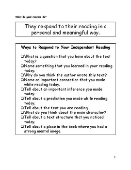 Minilesson: Writing Responses to Your Reading
