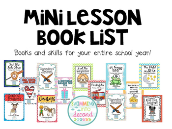 Minilesson book list: Plan out your year!
