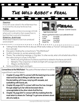 Minilessons to Pair with The Wild Robot: Feral