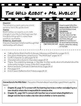 Minilessons to Pair with The Wild Robot: Mr. Hublot