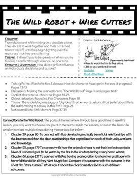 Minilessons to Pair with The Wild Robot: Wire Cutters
