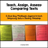 Minilessons to Teach Comparing Texts in Reading Workshop