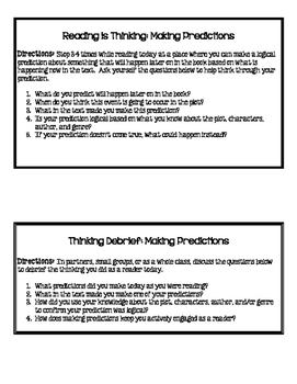 Minilessons to Teach Making Predictions in Reading Workshop