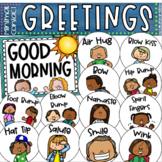 Minimal Contact Morning Greetings Poster Set Staying Healt