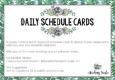 Minimal Daily Schedule Cards